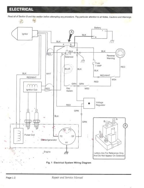 small resolution of wiring diagram 1987 ez go golf cart