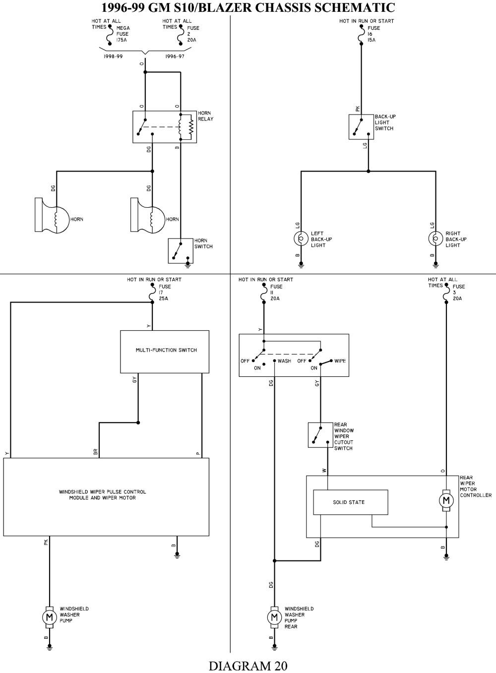 medium resolution of s10 wiper motor wiring car wiring diagrams explained u2022 chevy 2 8 engine diagram s10 engine