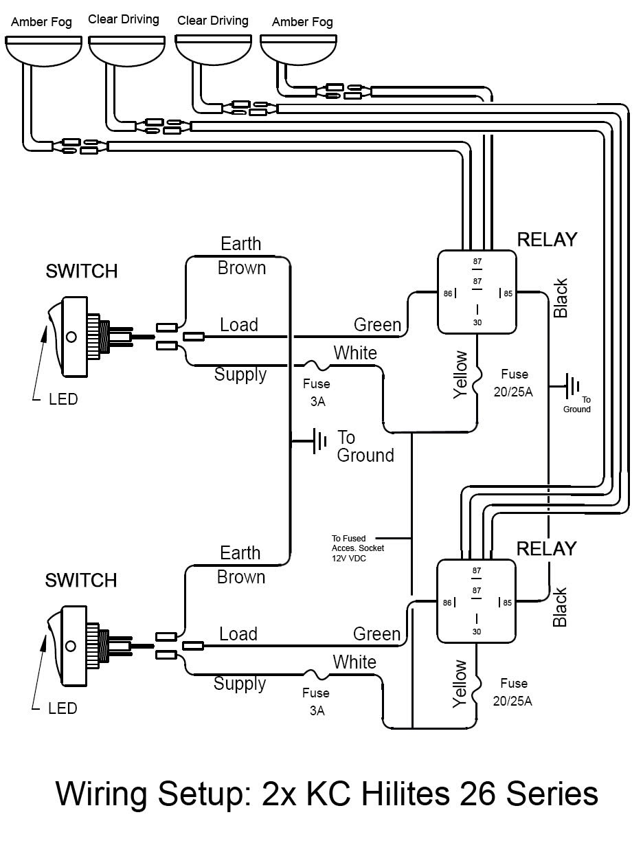 Jeep Kc Lights Wiring 6310 | Wiring Diagram Kc Wiring Harness on