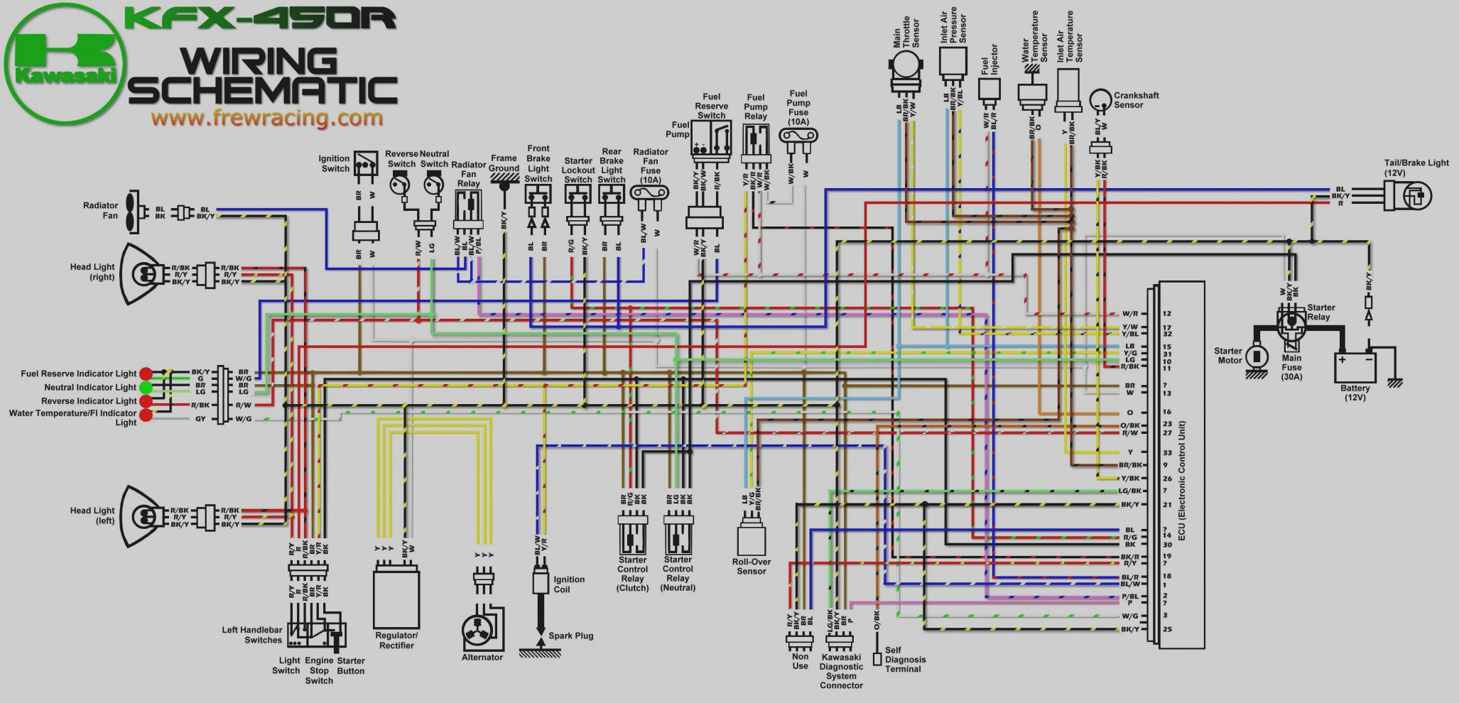 on yfz450 wiring diagram light