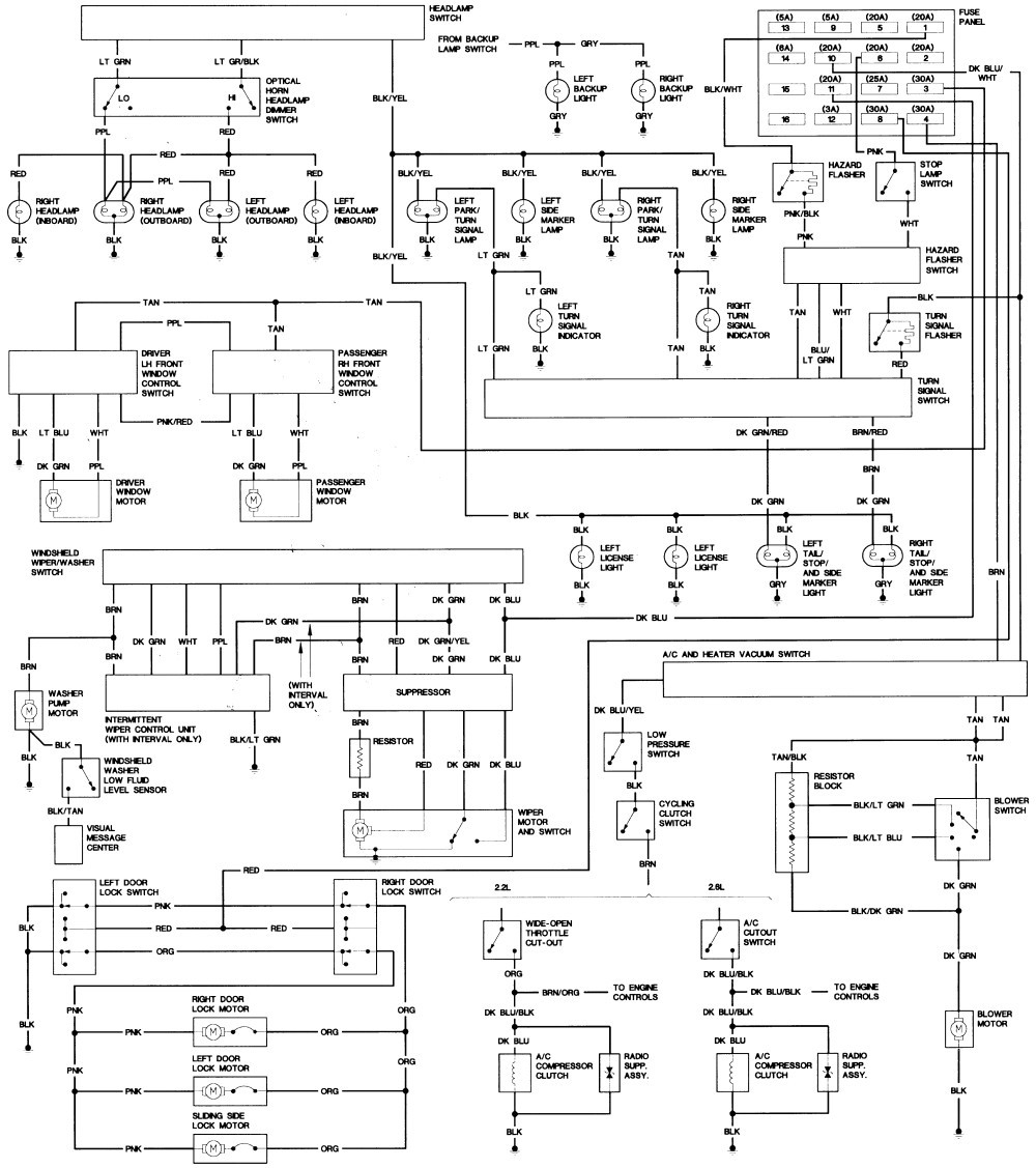 1993 Dodge Dakota Fuse Diagram