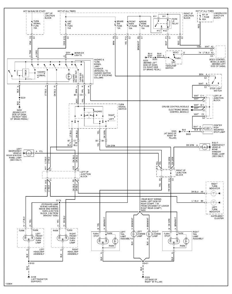 2003 Chevy Silverado Rear Tail Light Wiring Diagram