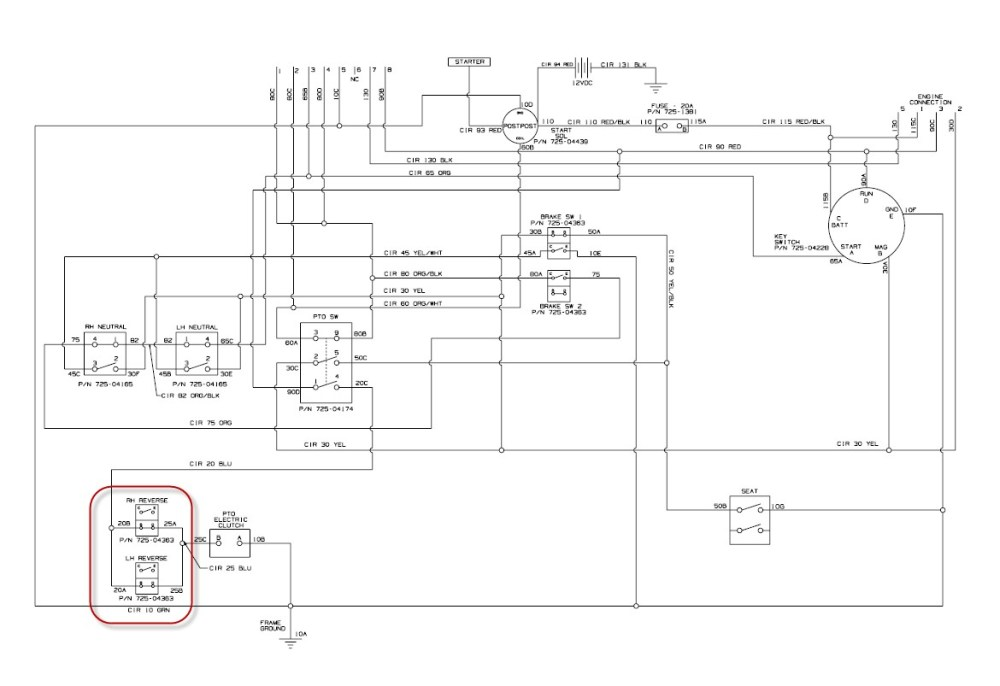 medium resolution of cub cadet lt1045 wiring diagram charging system