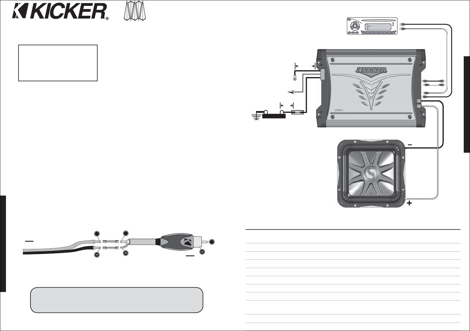 Kicker Solo Baric L7 Wire Diagram