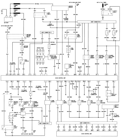 small resolution of 1985 nissan wiring diagram schematics diagram nissan alternator wiring 1985 nissan 720 stereo wiring diagram