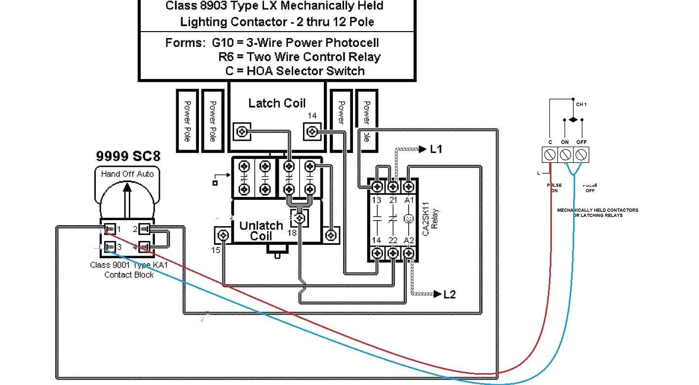 lighting contactor photocell wiring diagram starter motor 12 20v typical security diagrams