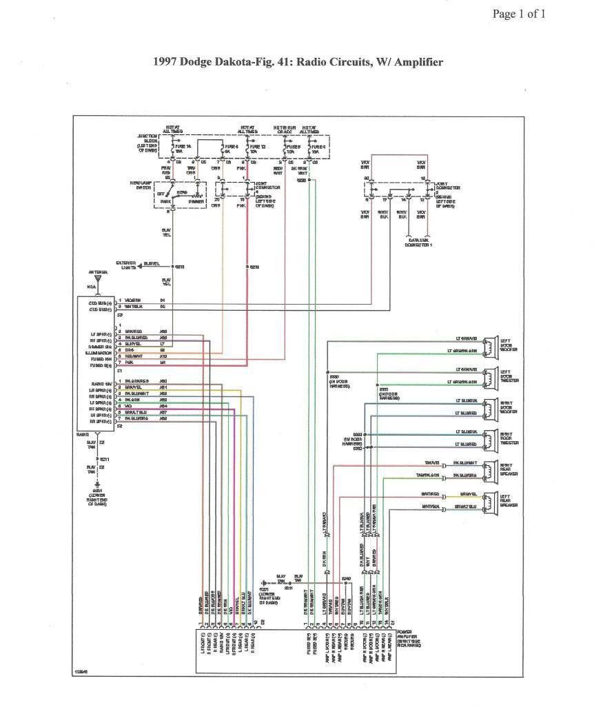 Radio Wiring Diagram for A 2005 Dodge Durango