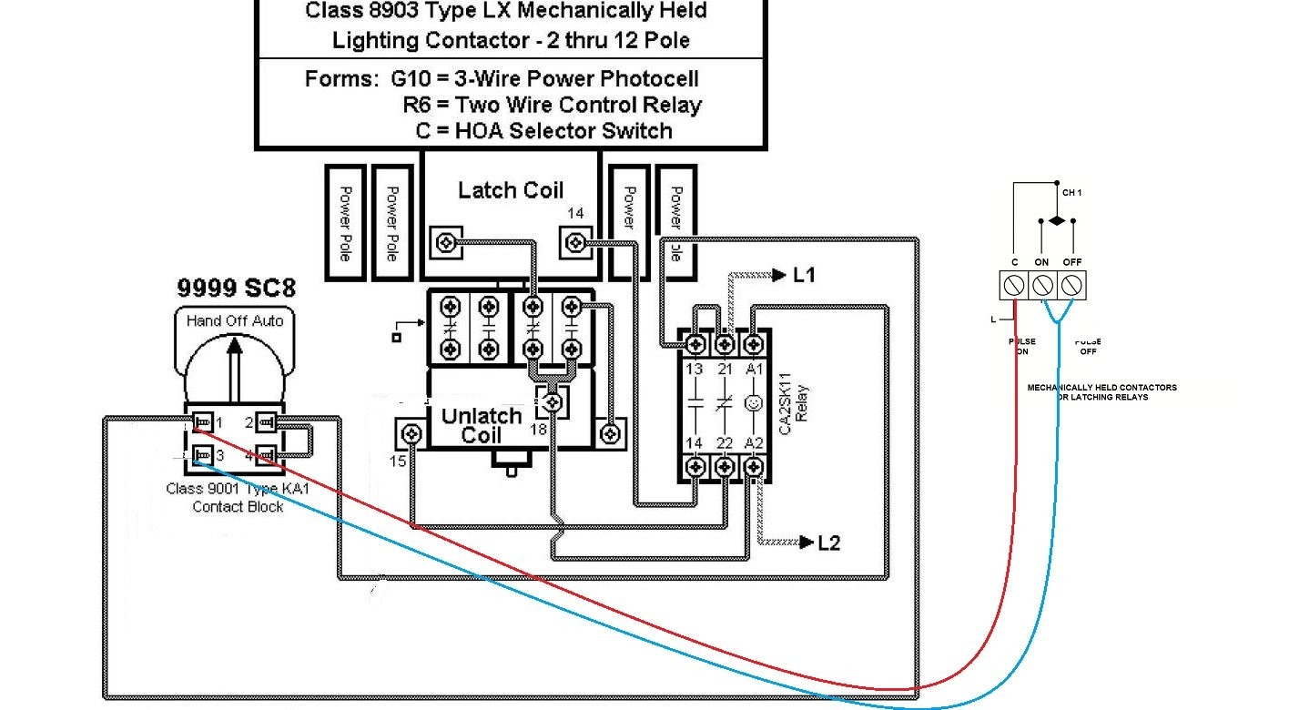 Tork Wiring Schematic for Lighting Contactor and Photocell