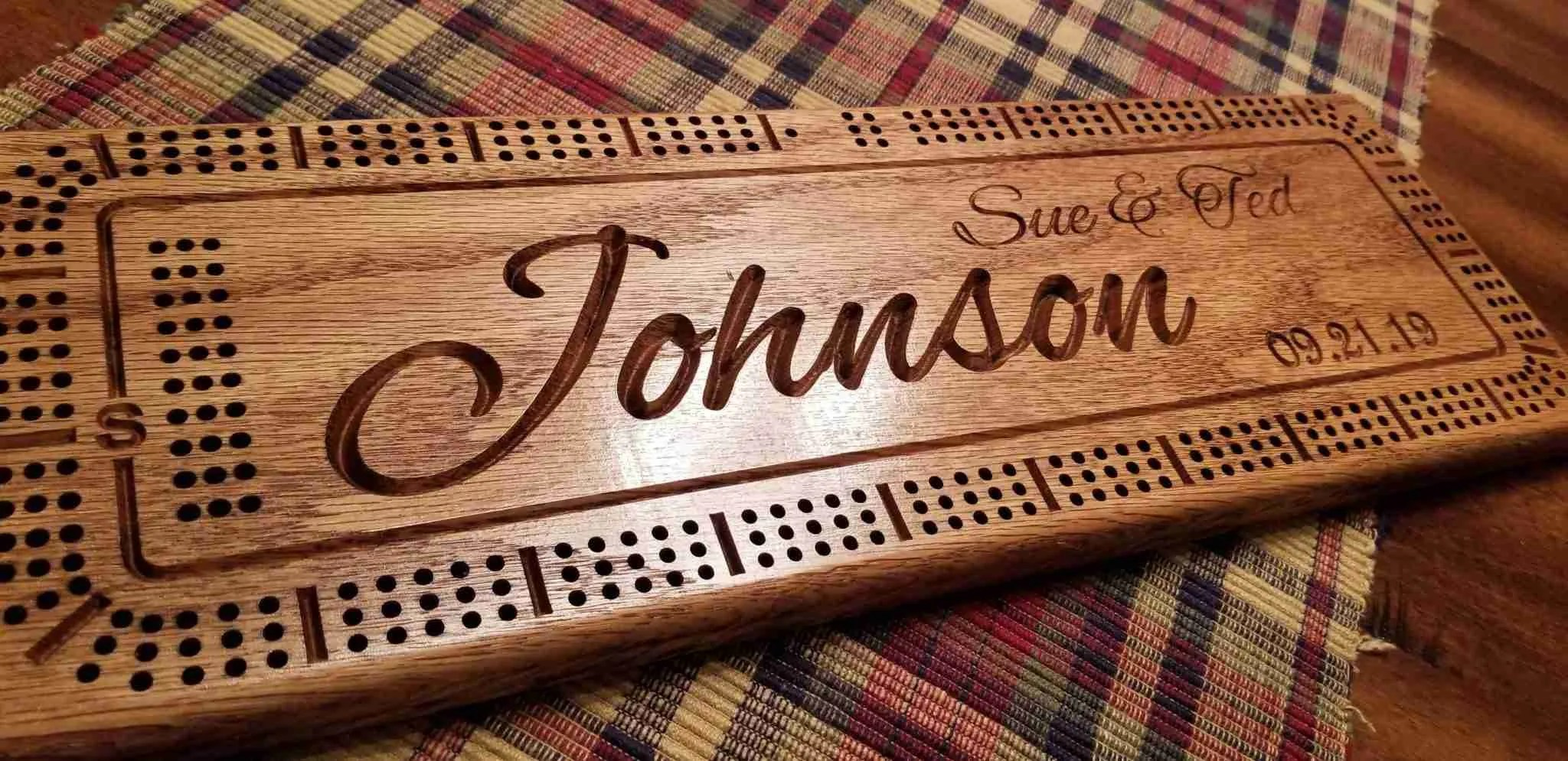 Personalized Wedding Gift with names and date