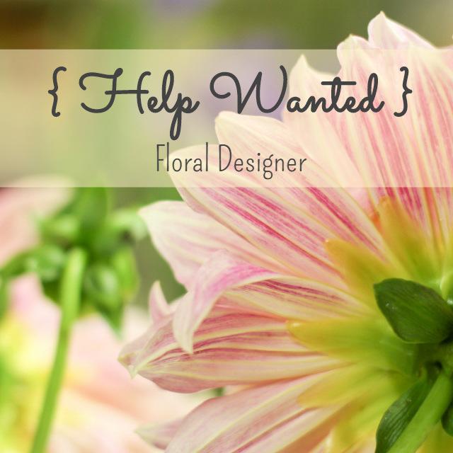 We're Hiring! { Job Openings in Twin Cities Florist }