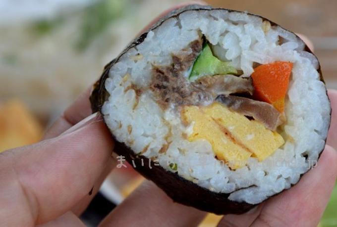 鹿肉巻き寿司