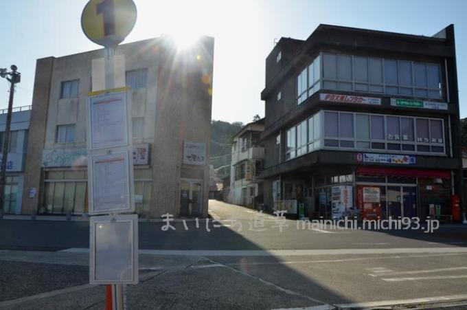 大島 岡田港 ①バス停