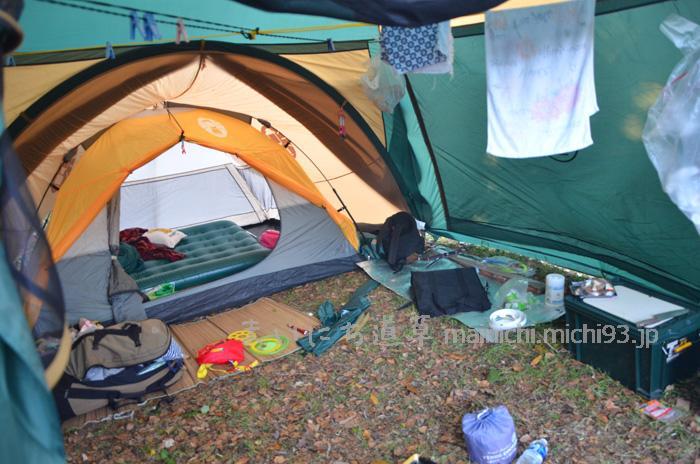 テントの中、土間っぽい空間が好き