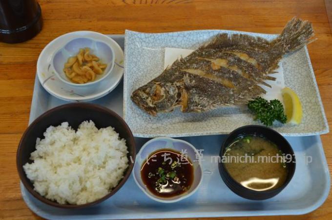 ヒラメから揚げ定食 1,250円