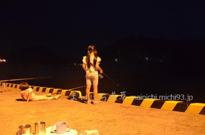 野伏港で夜釣り