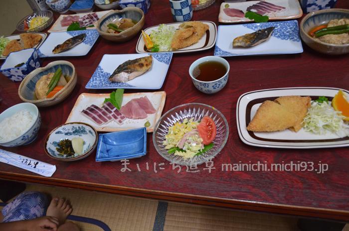 菊水旅館の夕食