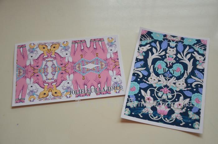 ジョリーフルールのポストカード2種類