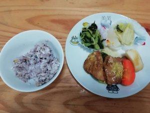 ナッシュ,豚の角煮,五穀米