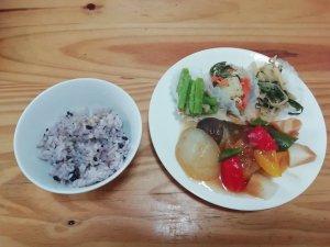 ナッシュ,白身魚の甘酢あんかけ,五穀米
