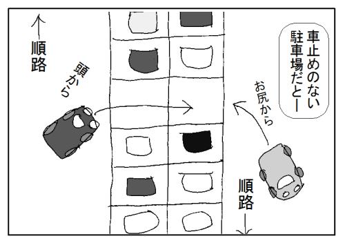 駐車場のスペース優先問題