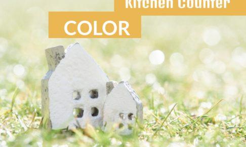 なんでキッチンカウンターの色はホワイトが基本?!ベージュに変更しました