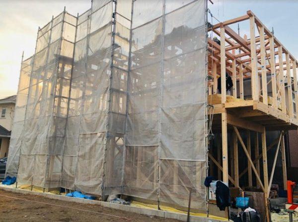 注文住宅・上棟当日の様子、まさかの上棟完成までいかずですが