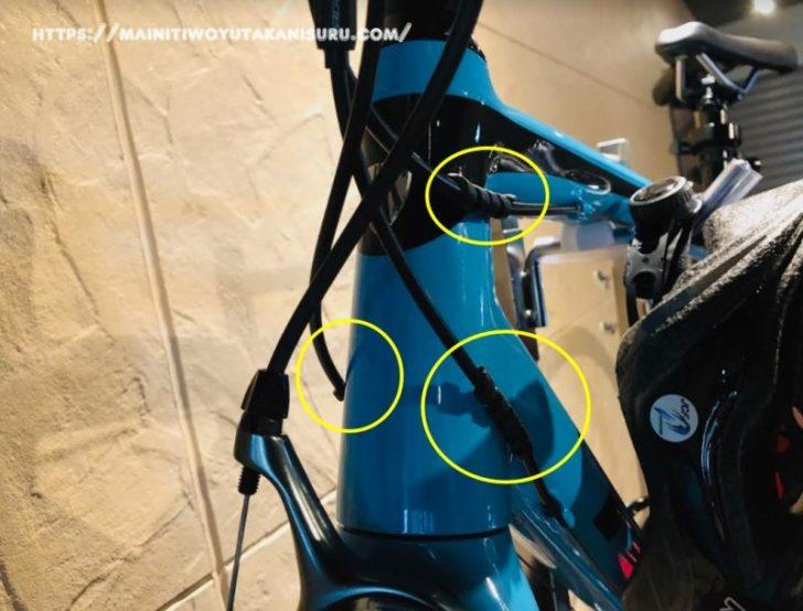 ロードバイク初心者夫婦。アクセサリーを探すワイヤー保護材編