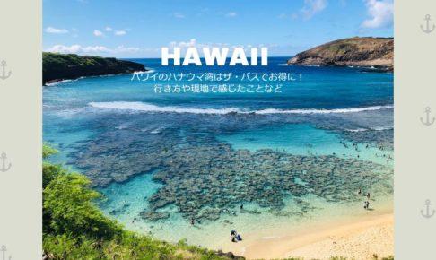 ハワイのハナウマ湾はザ・バスでお得に!行き方や現地で感じたことなど