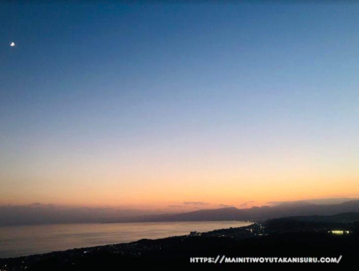 湘南平のトワイライト・夜景は最高ですね!