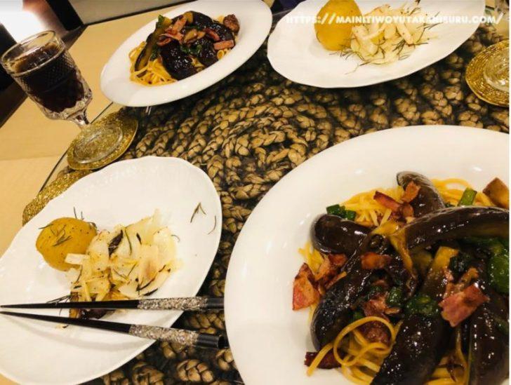 【注文住宅日記2020/7/27】先週の朝食・お弁当・夕食の献立(麺類パスタ)