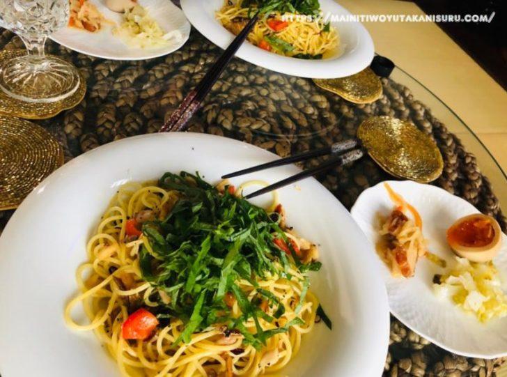 【注文住宅日記2020/8/4】先週の朝食・お弁当・夕食の献立(麺類パスタ)