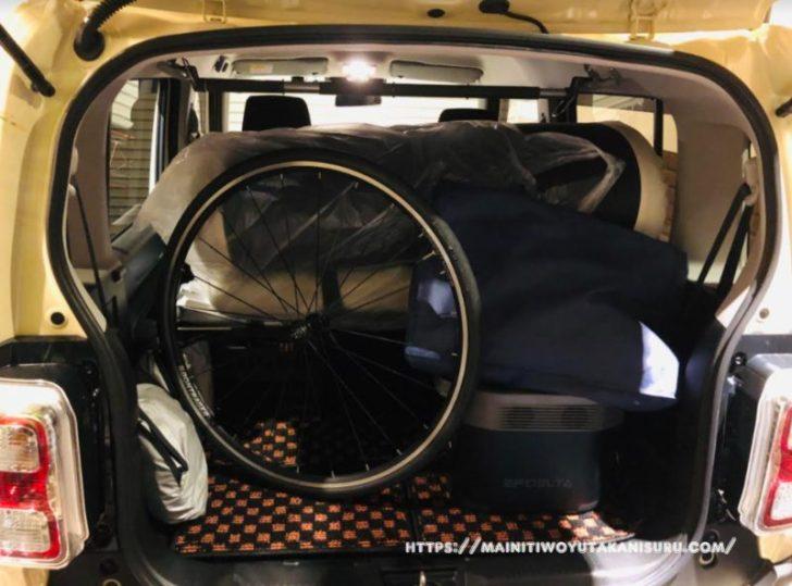 新型ハスラー(MR52S)のルーフにロードバイクを積んでみました
