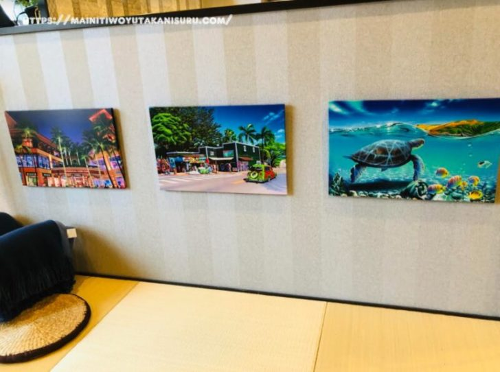 【入居後1年10ヵ月WEB内覧会】海外旅行の代わりにハワイの絵を