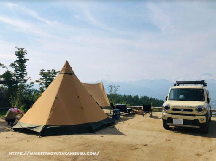 【キャンプサイトの様子】ほったらかしキャンプ場さんの区画サイト①ー⑤