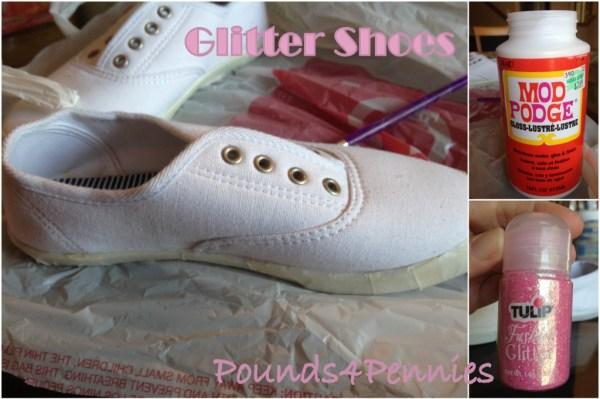 Glitter Shoes materials