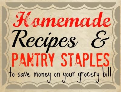 Homemade recipes to save money