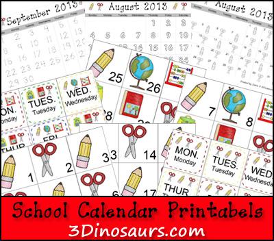 School Calendar Set