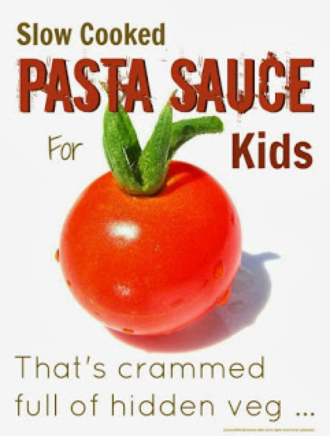 Slow Cooked Pasta Sauce for Kids