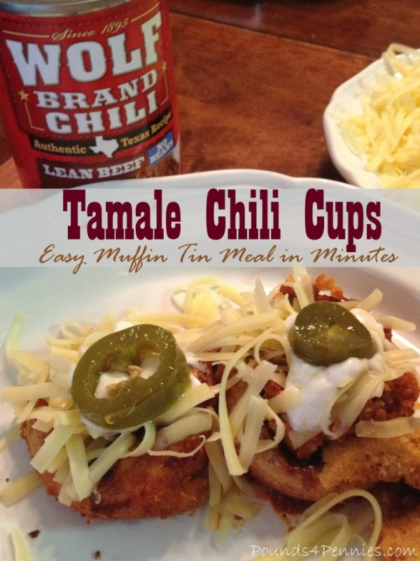 Tamale Chili Cups Easy muffin Tin meal in minutes #ad