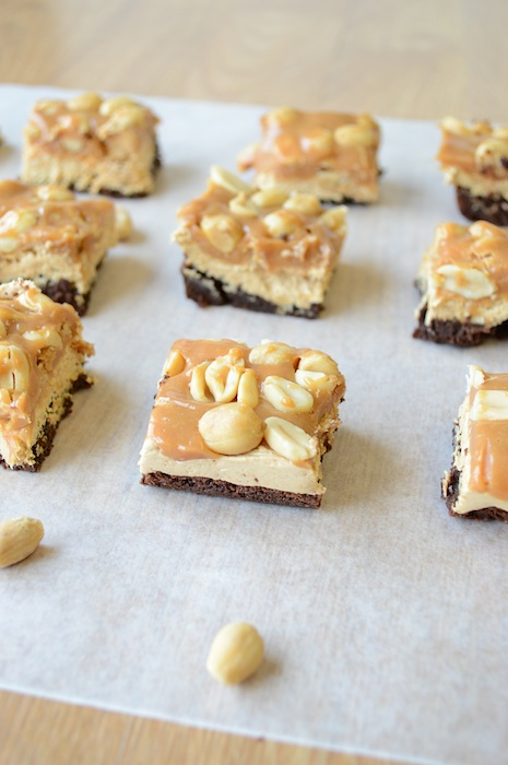 Snickers Brownie Bites - These simply look amazing and would be a great Thanksgiving dessert idea.