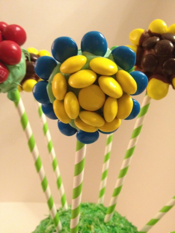 Daisy M&M cake pop flower #shop