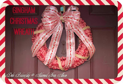 Gingham Christmas Wreath