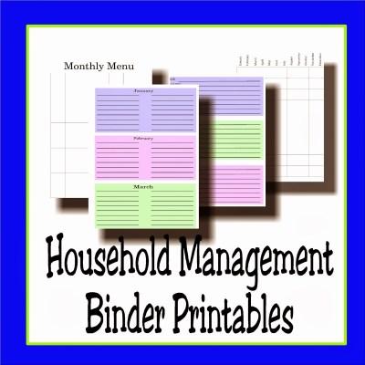 Household Management Binder Printables
