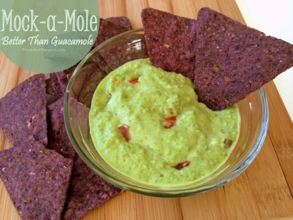 Mock a Mole With Peas. Better than Guacamole.