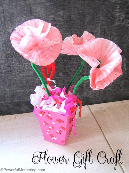 Mothers day flower gift craft