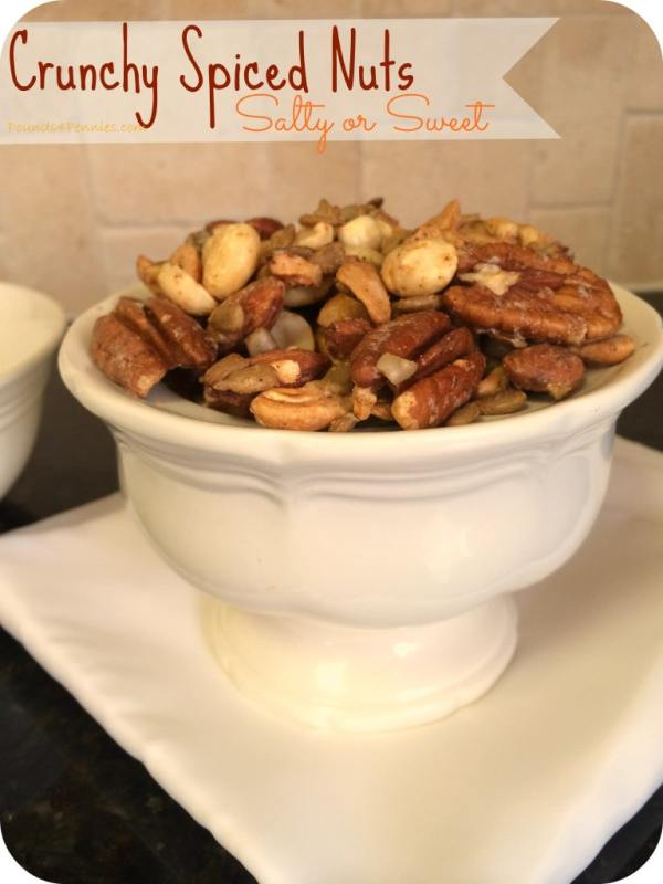 The Best Crunchy Spiced Nuts Recipe {Spicy or Sweet } Pounds4Pennies