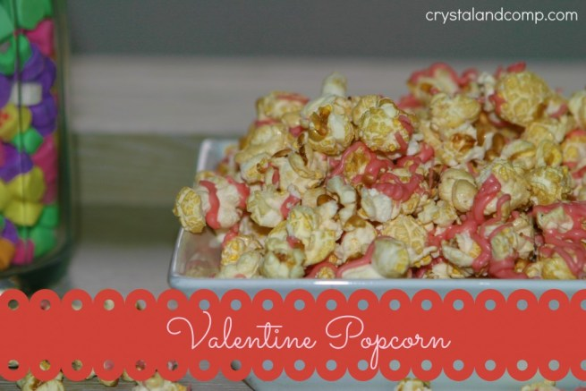 Easy Valentine Candy Coated Popcorn