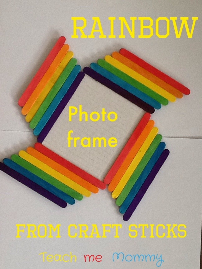 Rainbow photo frame - St. Patrick's Day Craft