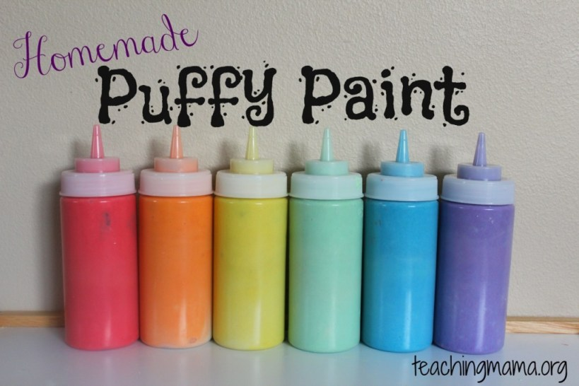 Fun and Easy Craft - Homemade Puffy Paint Made with simple kitchen ingredients