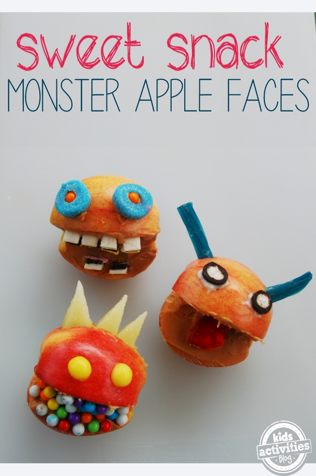 monster apple faces - Monster food idea